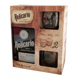 Coffret Ron Relicario solera 10 ans + 2 verres