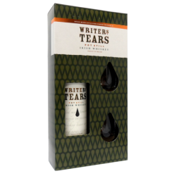 Coffret Whiskey Writers tears + 2 verres