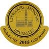 médaille d'or concours mondial Bruxelles 2015